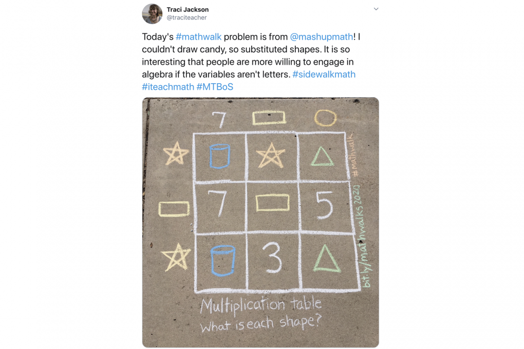 How Sidewalk Math Cultivates a Playful, Curious Attitude Towards Math